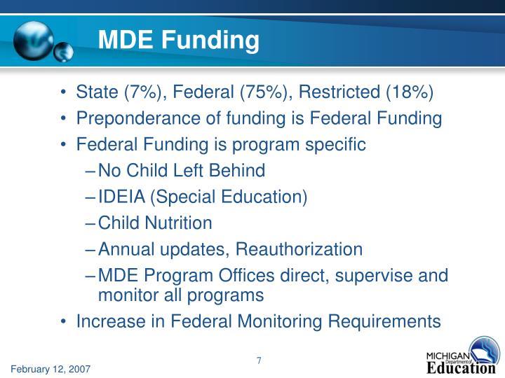 MDE Funding
