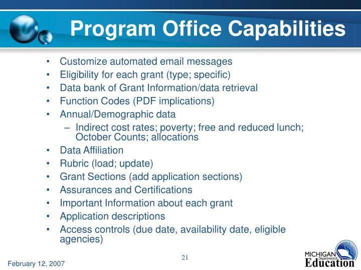 Program Office Capabilities
