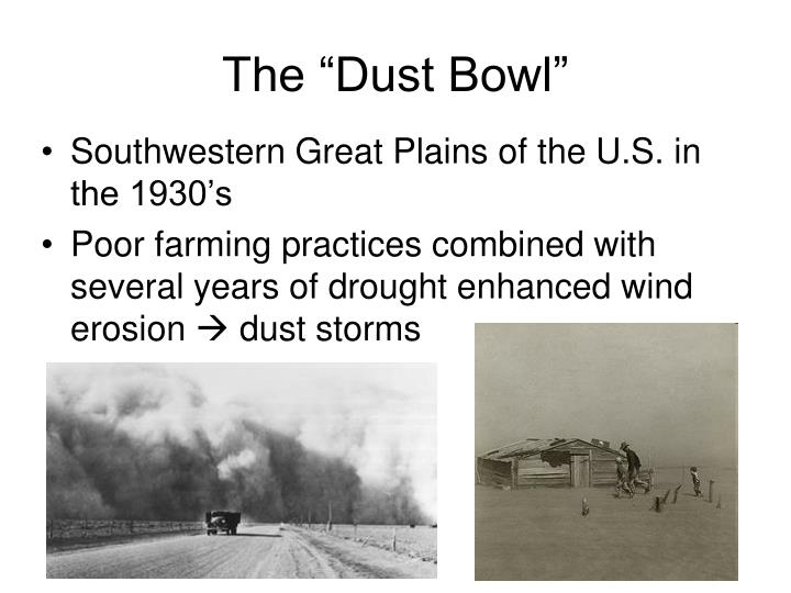 """The """"Dust Bowl"""""""