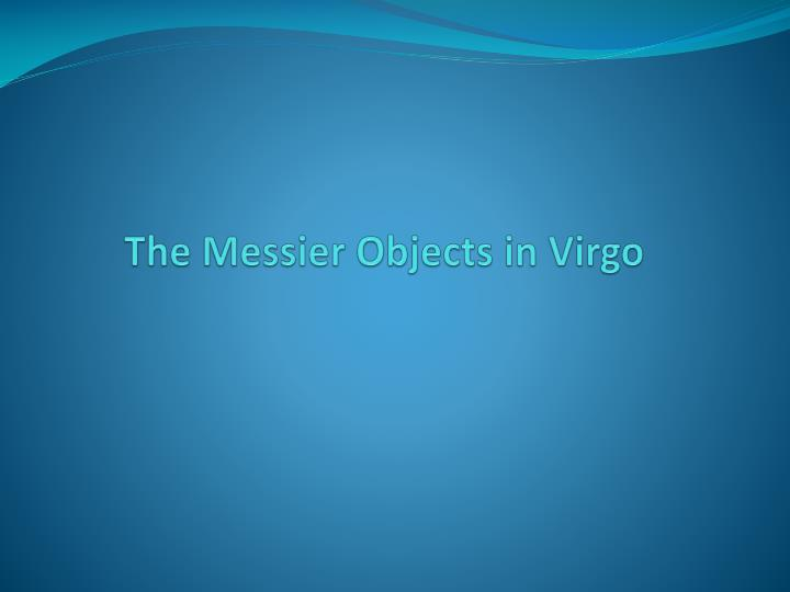 The Messier Objects in Virgo