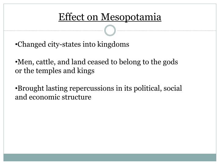Effect on Mesopotamia