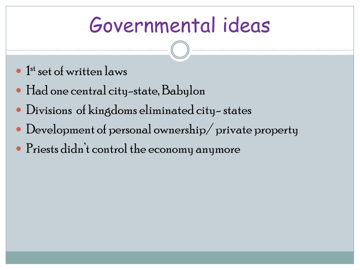 Governmental ideas