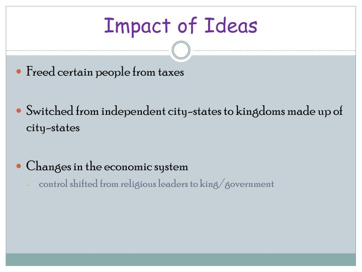 Impact of Ideas
