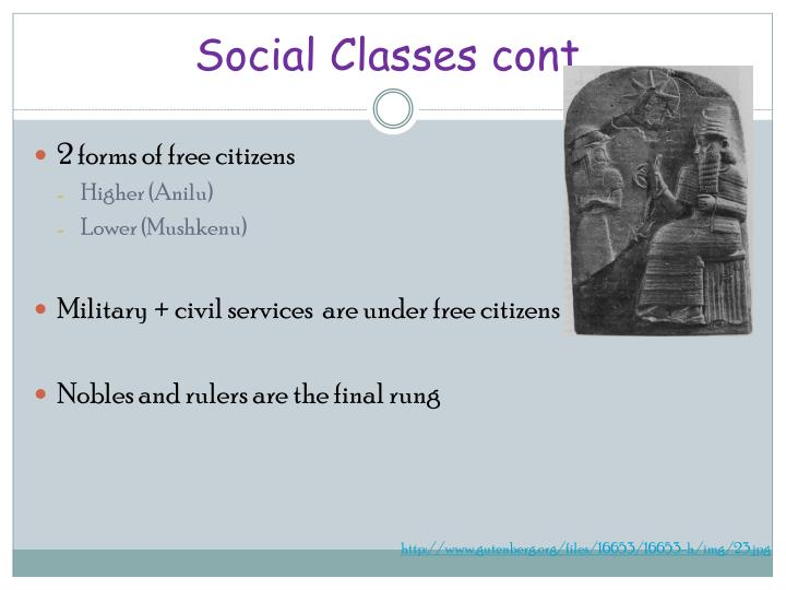 Social Classes cont.