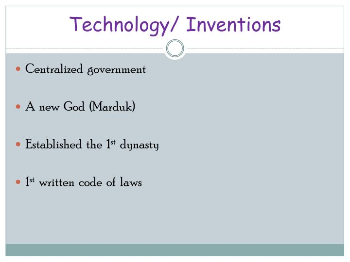 Technology/ Inventions