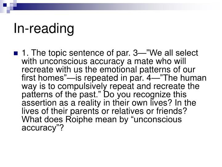 In-reading