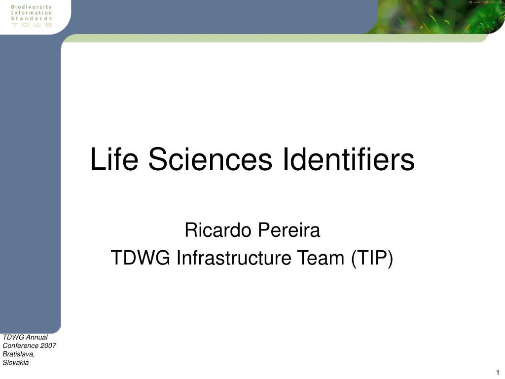Life Sciences Identifiers