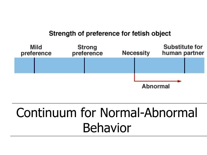 Continuum for Normal-Abnormal Behavior