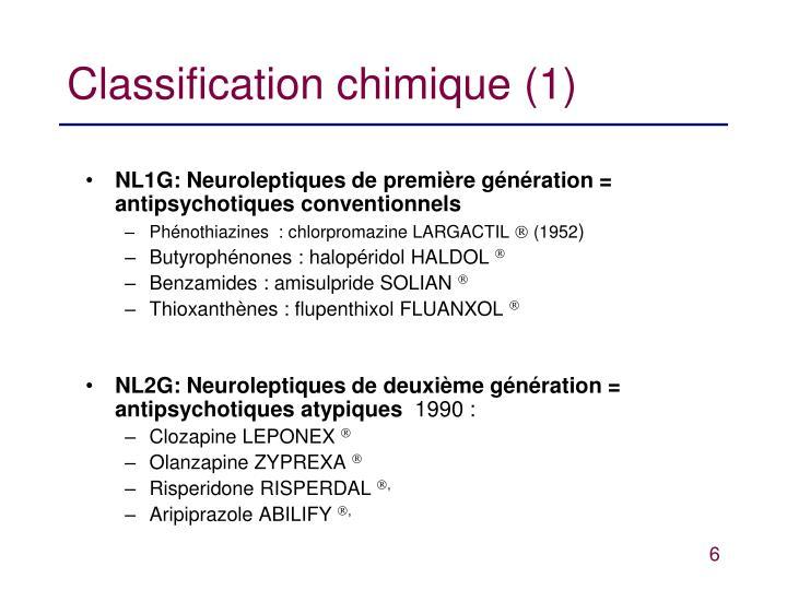 Classification chimique (1)