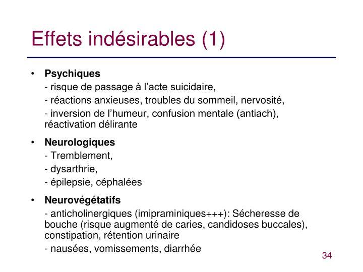 Effets indésirables (1)