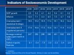 indicators of socioeconomic development