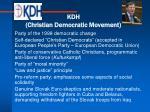 kdh christian democratic movement