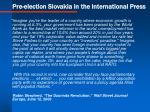pre election slovakia in the international press