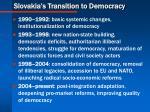slovakia s transition to democracy