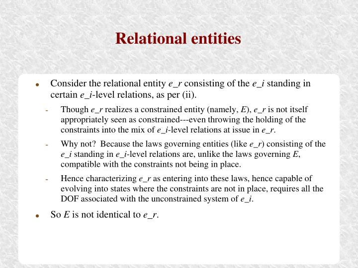 Relational entities