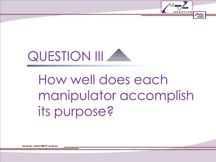 QUESTION III