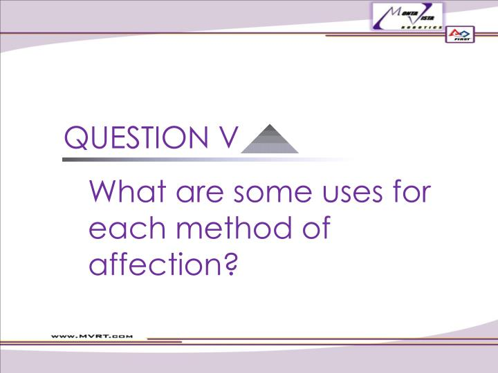 QUESTION V