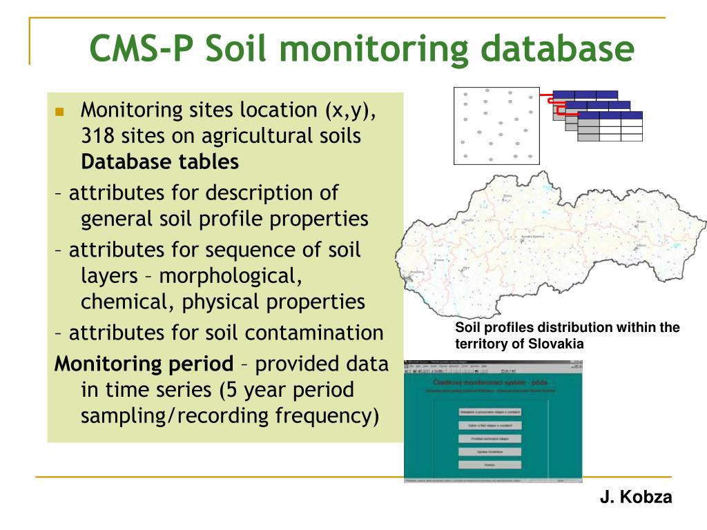CMS-P Soil monitoring database