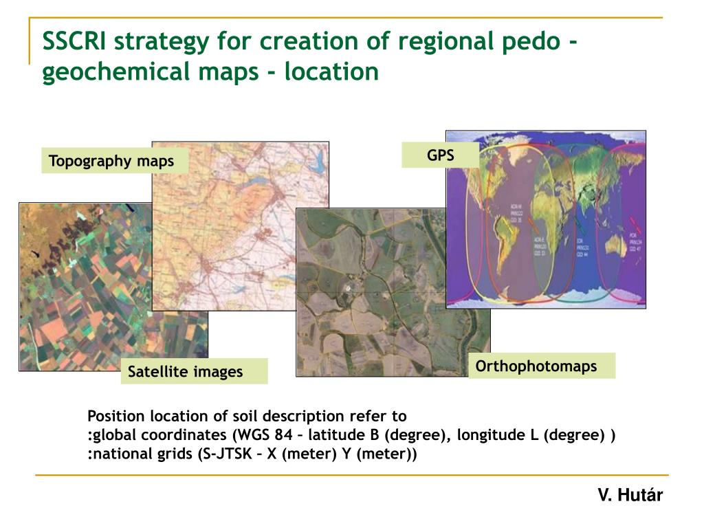 SSCRI strategy for creation of regional pedo -geochemical maps - location