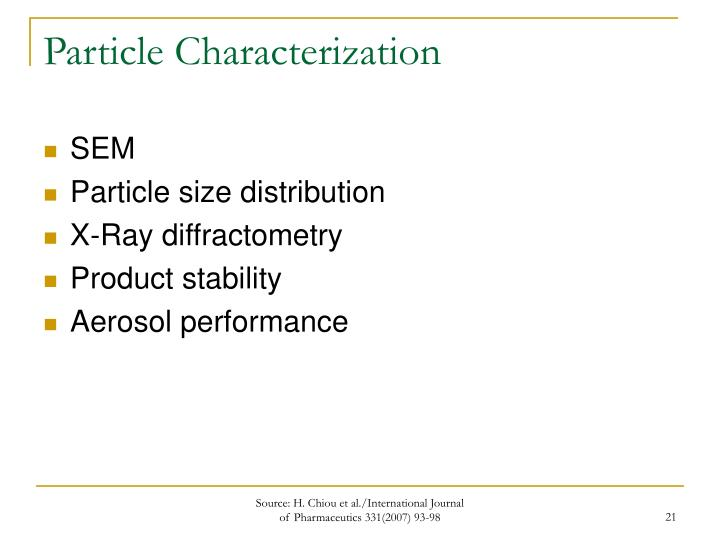 Particle Characterization