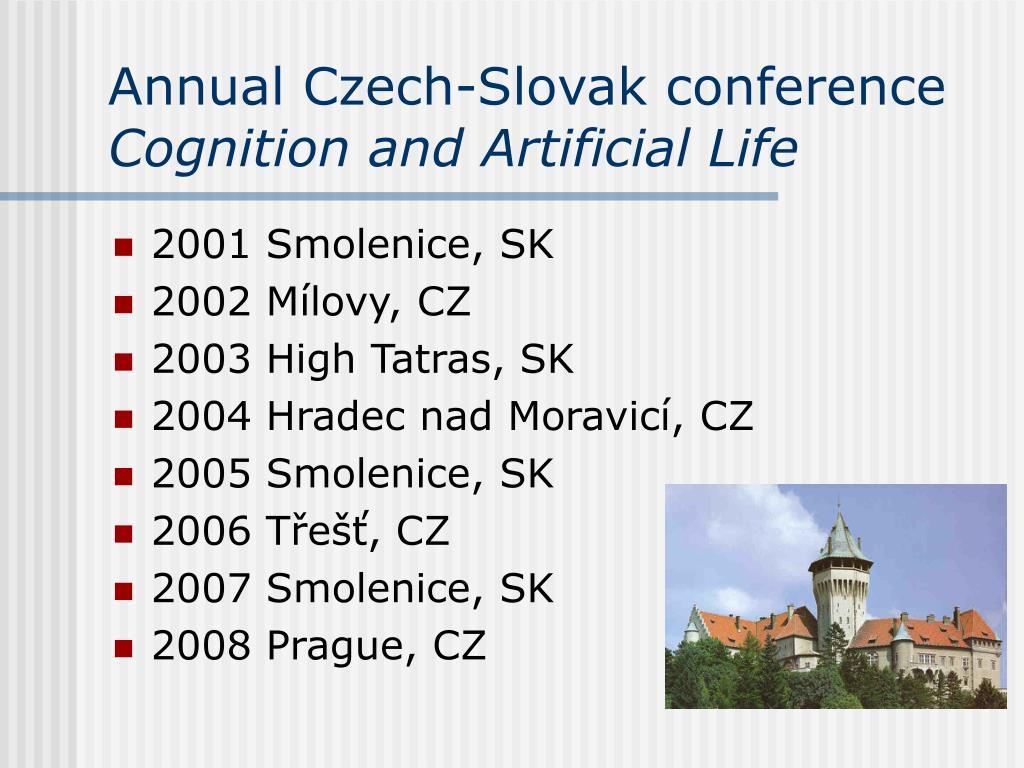Annual Czech-Slovak conference