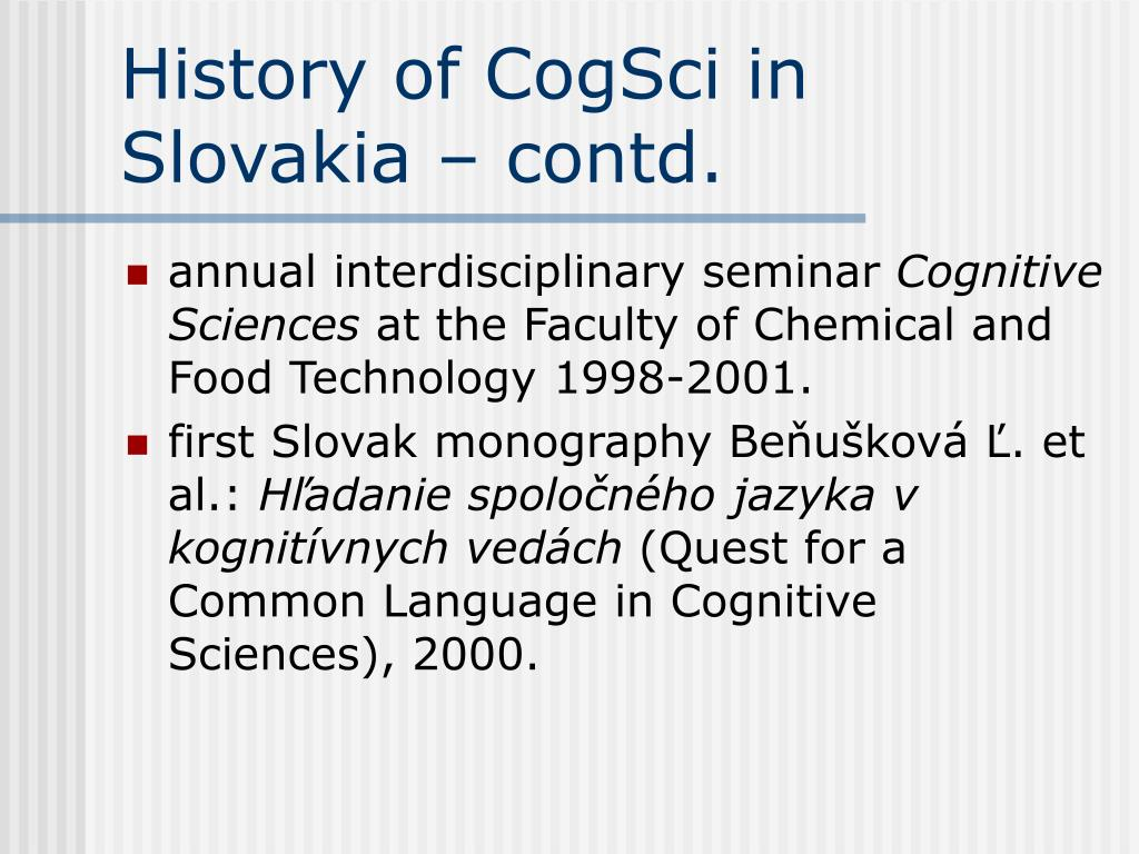 History of CogSci