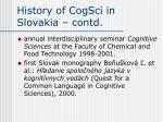 history of cogsci in slovakia contd