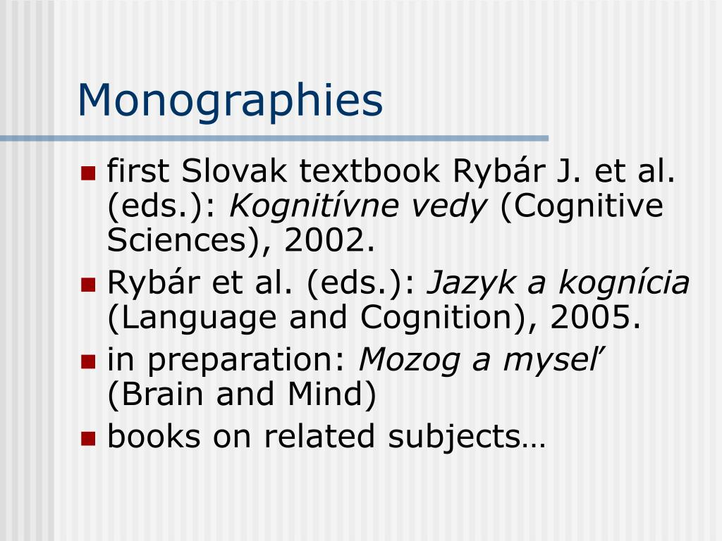 Monographies
