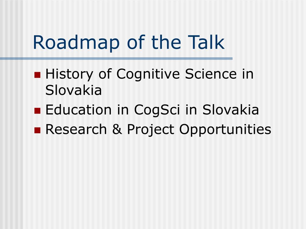 Roadmap of the Talk