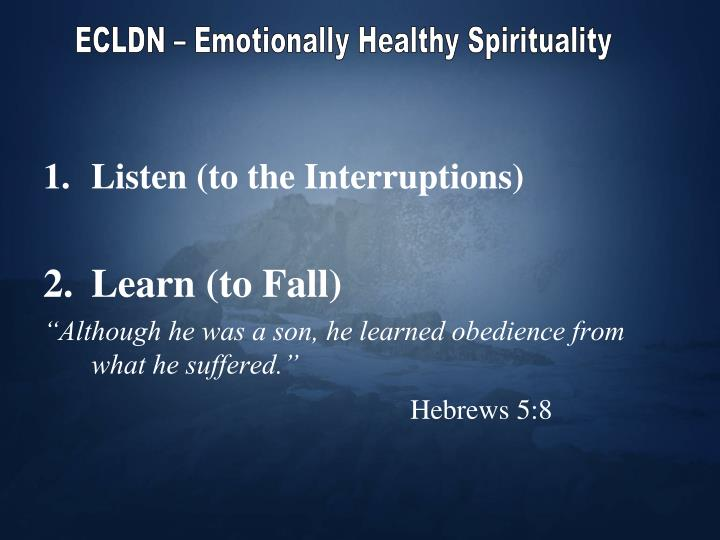 ECLDN – Emotionally Healthy Spirituality