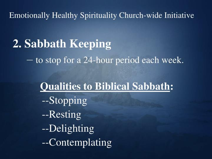 Emotionally Healthy Spirituality Church-wide Initiative