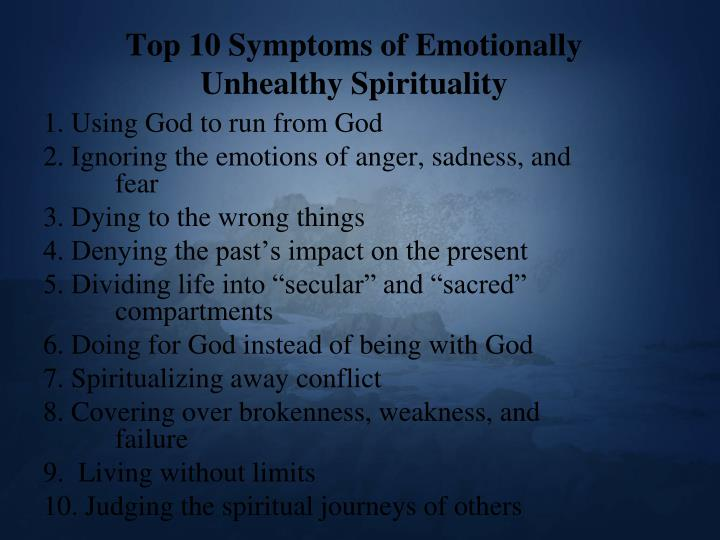 Top 10 Symptoms of Emotionally