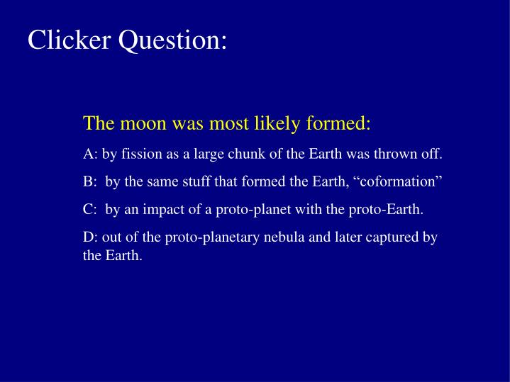 Clicker Question: