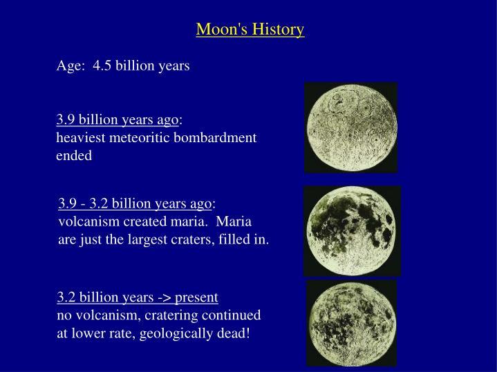 Moon's History