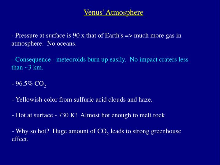 Venus' Atmosphere