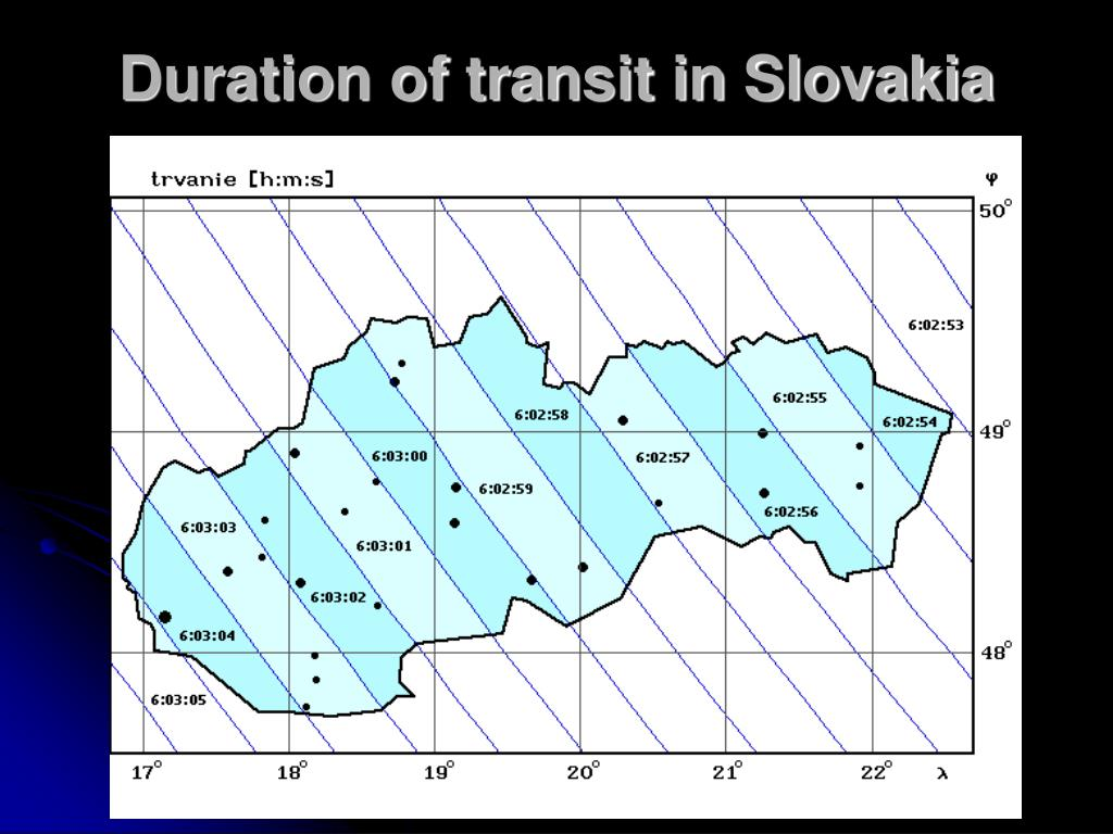 Duration of transit in Slovakia