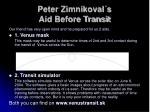 peter zimnikoval s aid before transit