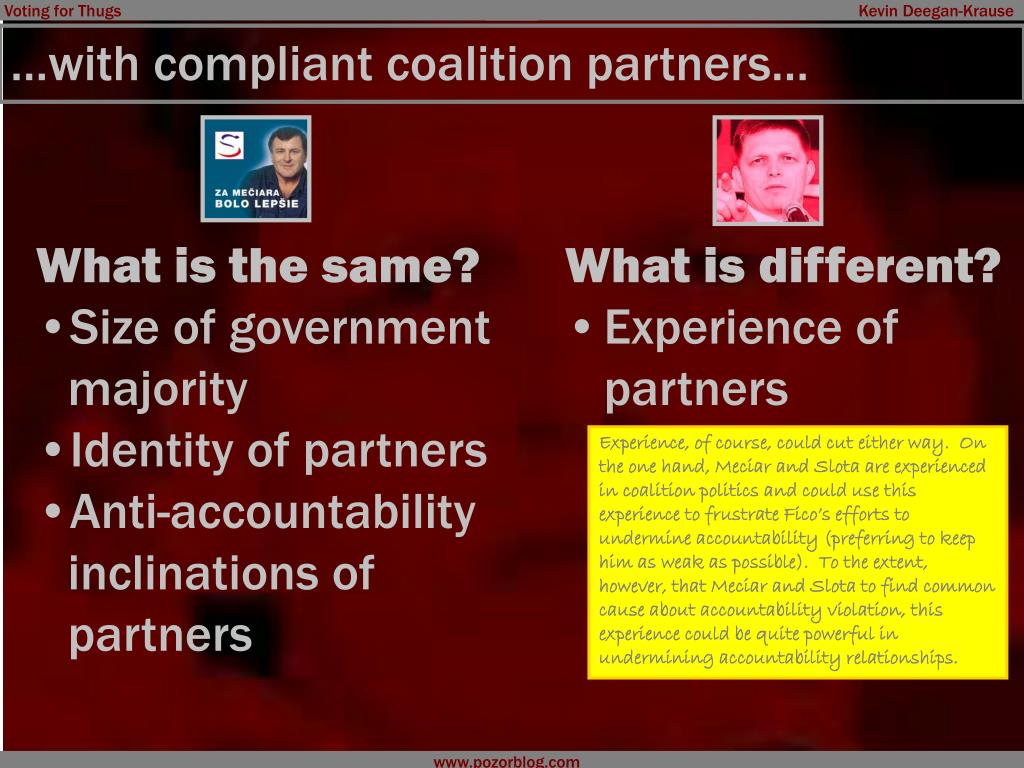 …with compliant coalition partners…