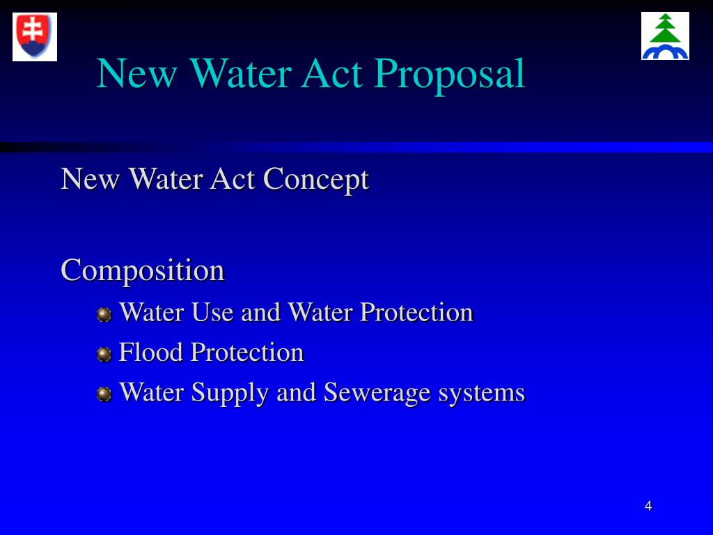 New Water Act Proposal