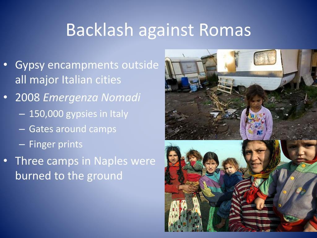 Backlash against Romas