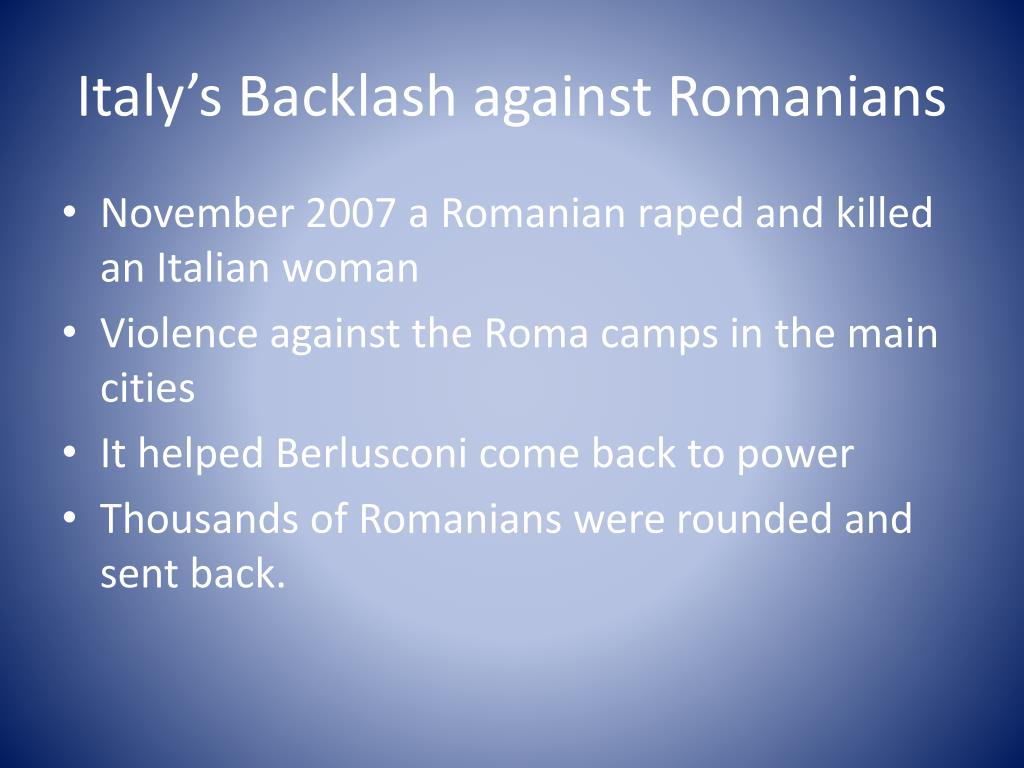 Italy's Backlash against Romanians