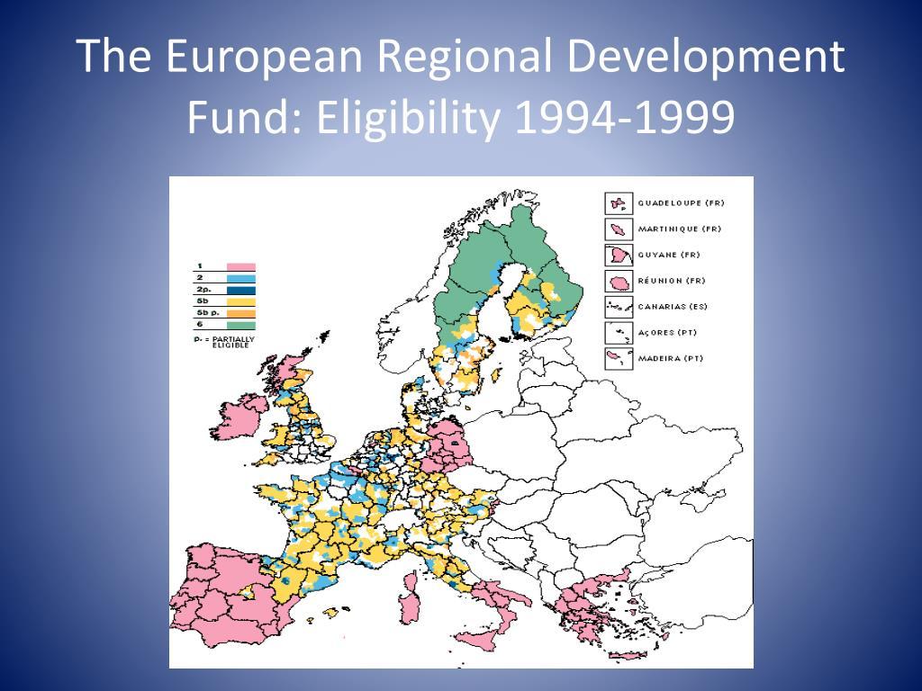 The European Regional Development Fund: Eligibility 1994-1999