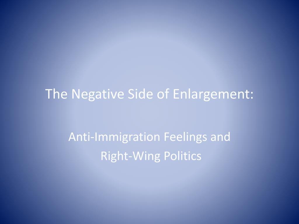 The Negative Side of Enlargement: