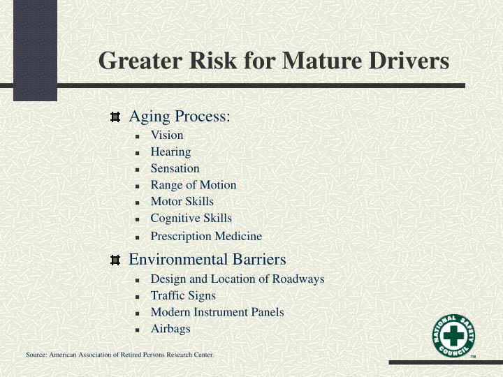 Greater Risk for Mature Drivers