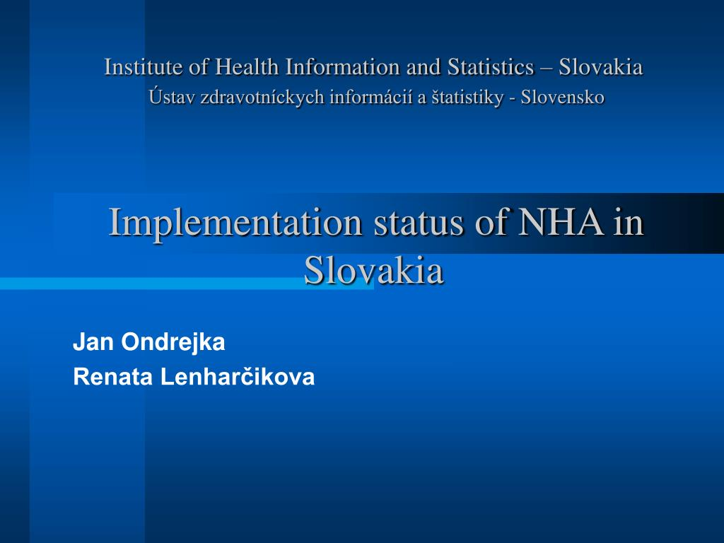 Institute of Health Information and Statistics – Slovakia