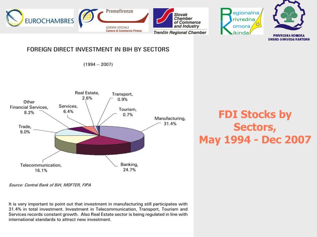 FDI Stocks by Sectors,