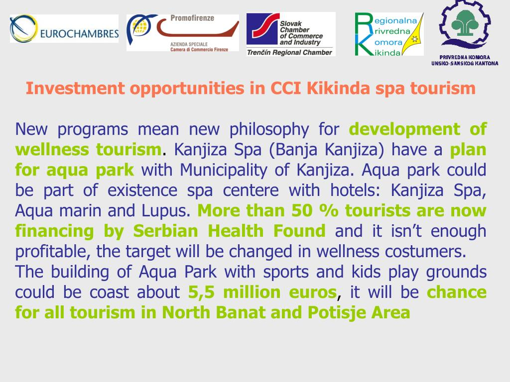 Investment opportunities in CCI Kikinda spa tourism