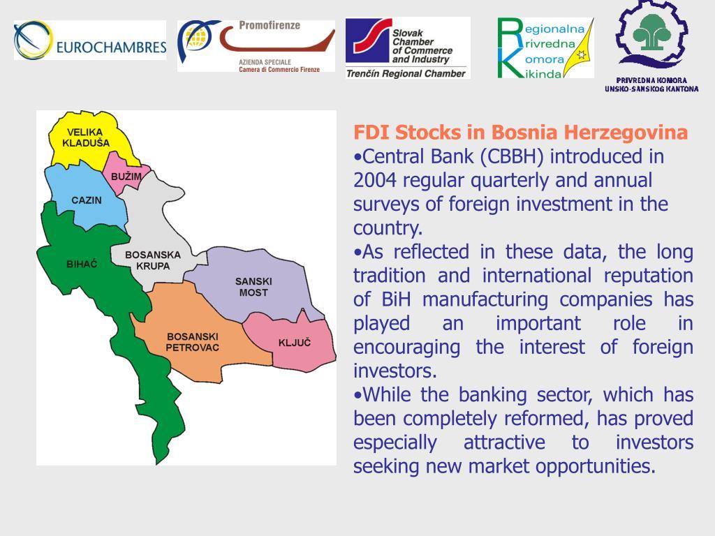 FDI Stocks in Bosnia Herzegovina