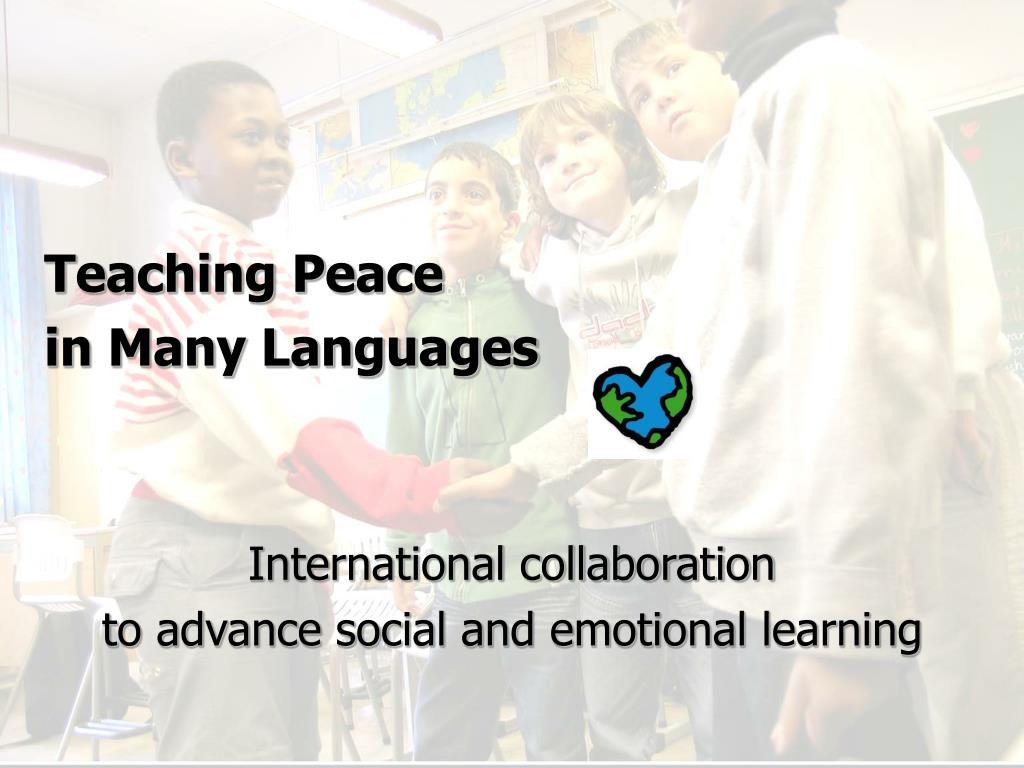 Teaching Peace