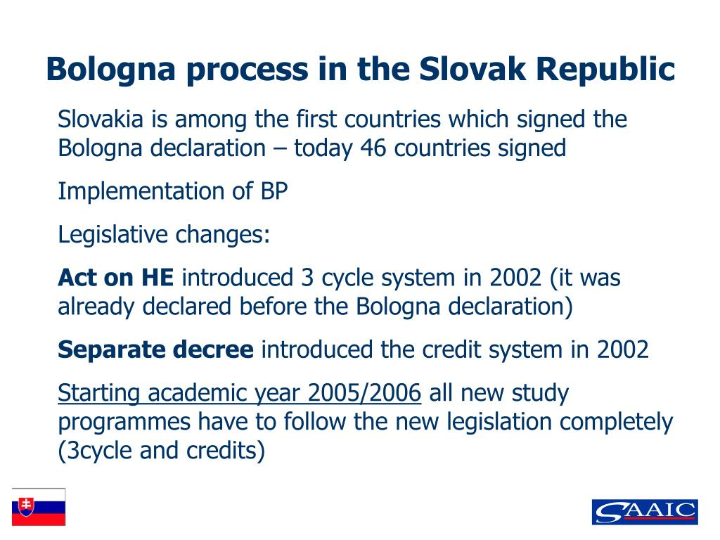 Bologna process in the Slovak Republic